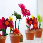 Burbank Montessori Academy Felt Flower Pots