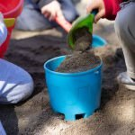 Burbank Montessori Academy Students Build Sandcastle