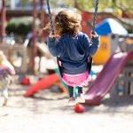 Burbank Montessori Academy Student on Swing