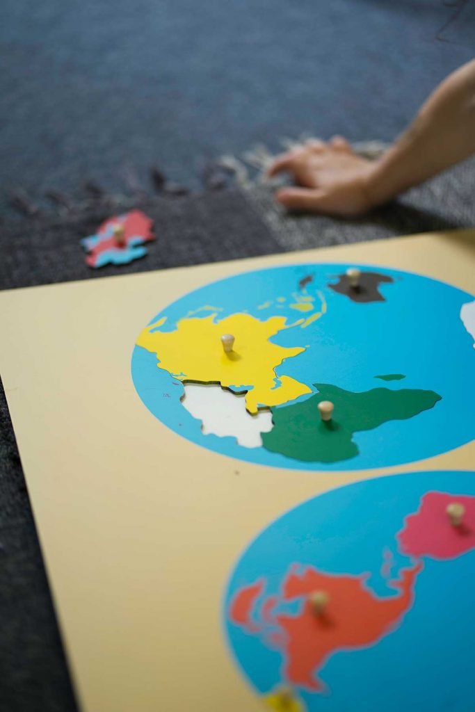 Burbank Montessori Academy World Puzzle